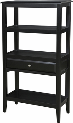 Powell Sedona Antique Black Short Bookshelf
