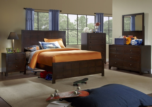 Powell Summerfield Full Size Bedroom Set - Dark Walnut