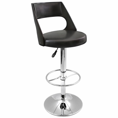 Presta Barstool Wenge Wood - LumiSource - BS-JY-PRS-WG-BK