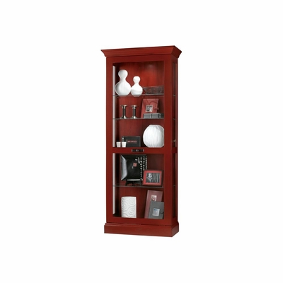 Preston Chili Red Display Cabinet with Sliding Door - Howard Miller