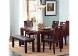 Prewitt 6PC Dining Set with Bench - 102941
