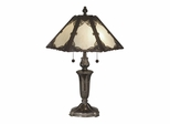 Pristine Panel Tiffany Table Lamp - Dale Tiffany