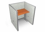 "Privacy Cubicle Panel Station, 1X1 Layout, 47""H, 36""W, Vinyl Panels - OFM - T1X1-4736-V"
