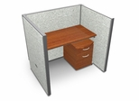 "Privacy Cubicle Panel Station, 1X1 Layout, 47""H, 48""W, Vinyl Panels - OFM - T1X1-4748-V"