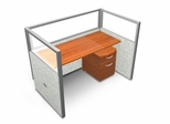 "Privacy Cubicle Panel Station, 1X1 Layout, 47""H, 60""W, Polycarbonate Panel Tops - OFM - T1X1-4760-P"