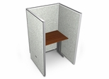 "Privacy Cubicle Panel Station, 1X1 Layout, 63""H, 36""W, Vinyl Panels - OFM - T1X1-6336-V"