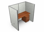 "Privacy Cubicle Panel Station, 1X1 Layout, 63""H, 60""W, Vinyl Panels - OFM - T1X1-6360-V"
