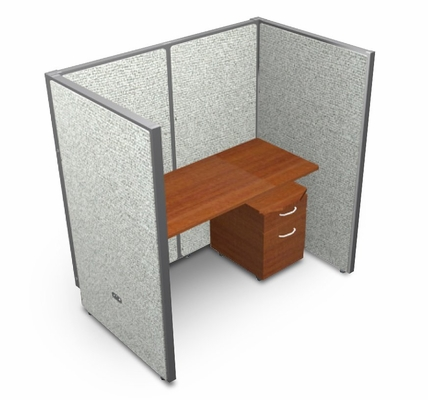 Privacy Cubicle Panel Station, 1X1 Layout, 63
