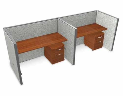 Privacy Cubicle Panel Station, 1X2 Layout, 47