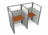 "Privacy Cubicle Panel Station, 1X2 Layout, 63""H, 36""W, Polycarbonate Panel Tops - OFM - T1X2-6336-P"