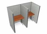 "Privacy Cubicle Panel Station, 1X2 Layout, 63""H, 36""W, Vinyl Panels - OFM - T1X2-6336-V"