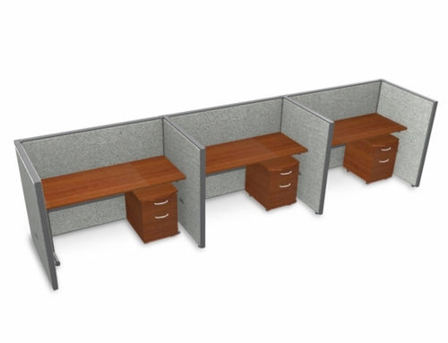 Privacy Cubicle Panel Station, 1X3 Layout, 47