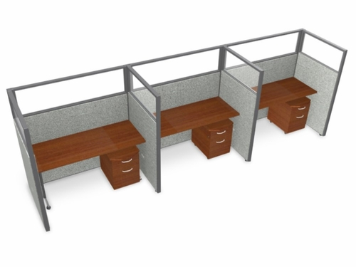 Privacy Cubicle Panel Station, 1X3 Layout, 63