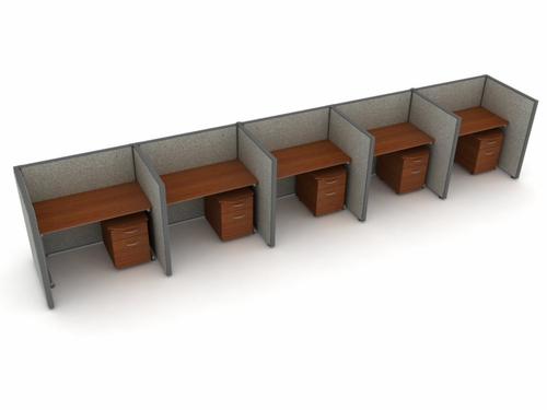 Privacy Cubicle Panel Station, 1X5 Layout, 47