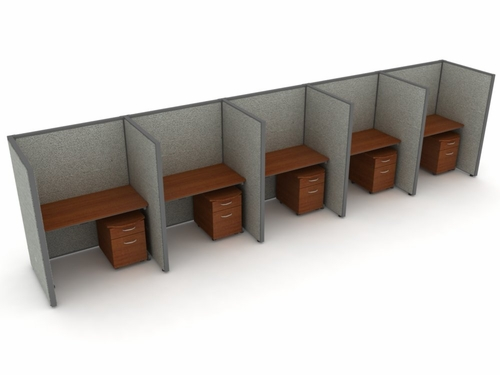 Privacy Cubicle Panel Station, 1X5 Layout, 63