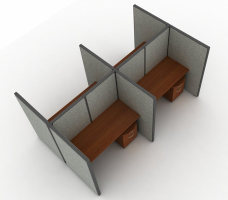 Privacy Cubicle Panel Station, 2X2 Layout, 63