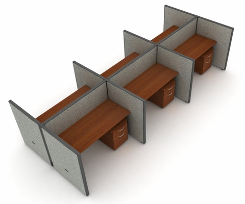 Privacy Cubicle Panel Station, 2X3 Layout, 47