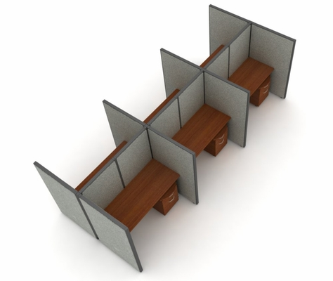 Privacy Cubicle Panel Station, 2X3 Layout, 63