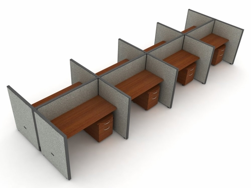 Privacy Cubicle Panel Station, 2X4 Layout, 47