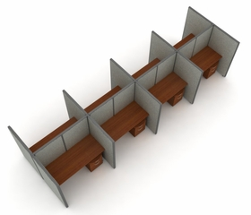 "Privacy Cubicle Panel Station, 2X4 Layout, 63""H, 60""W, Vinyl Panels - OFM - T2X4-6360-V"