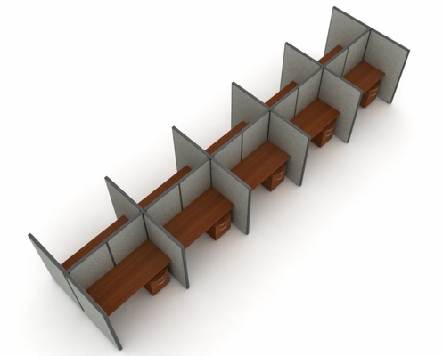 Privacy Cubicle Panel Station, 2X5 Layout, 63