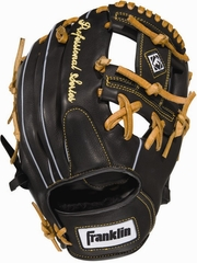 "Professional Series 11.5"" Regular - Baseball Glove Black / Tan - Franklin Sports"
