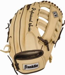 "Professional Series 12.5"" Baseball Glove Almond / Brown - Franklin Sports"