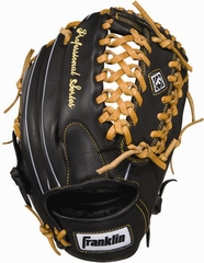 "Professional Series 12"" Baseball Glove Regular Black / Tan - Franklin Sports"