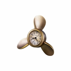 Propeller Arm Antique Brass Clock - Howard Miller