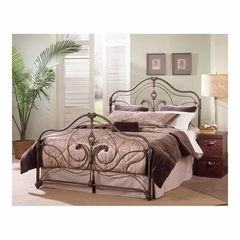 Provence Antique Gold Metal Bed - Largo - LARGO-ST-3042XHF