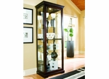 Pulaski Chocolate Cherry Two Way Sliding Door Curio Cabinet - Pulaski Furniture - 20994