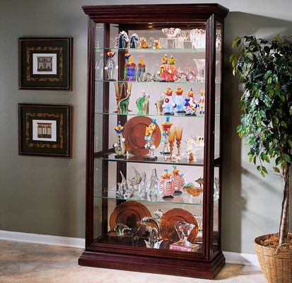 Pulaski Eden House Two Way Sliding Door Curio Cabinet - Pulaski Furniture - 20542