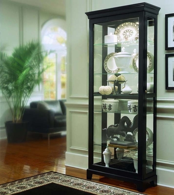 Pulaski Oxford Black Two Way Sliding Door Curio Cabinet - Pulaski Furniture - 20819