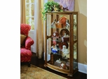 Pulaski Pepper Oak Mantel Curio Cabinet - Pulaski Furniture - 20877