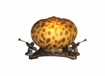 Pumpkin With 3 Cherubs Accent Lamp - Dale Tiffany