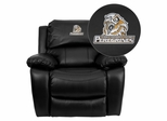 Purdue University Calumet Peregrines Black Leather Recliner  - MEN-DA3439-91-BK-41063-EMB-GG