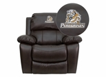 Purdue University Calumet Peregrines Brown Leather Recliner - MEN-DA3439-91-BRN-41063-EMB-GG