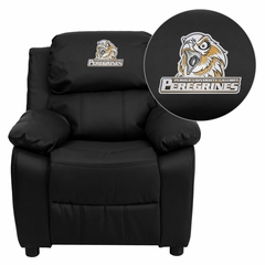 Purdue University Calumet Peregrines Embroidered Black Leather Kids Recliner - BT-7985-KID-BK-LEA-41063-EMB-GG