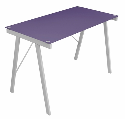 Purple Exponent Office Desk - LumiSource - OFD-TM-PBLNK PR