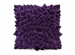 Purple Fontella Hand Sewn Felt Rose Pillow - IMAX - 42123