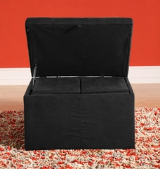 Quebec Storage Ottoman Set - Lifestyle Solutions - TT-QBE-P1-BK