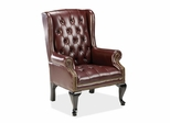 Queen Anne Side Chair - Burgundy - LLR60605