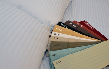 Queen Bed Sheet Set - 400TC Egyptian Sheet Set in Brick - SS2009400-Q-BRKA