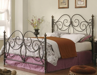 Queen Dark Bronze Iron Headboard & Footboard - 300258Q