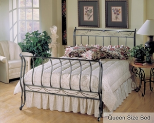 Queen Size Bed - Camelot Queen Size Metal Sleigh Bed