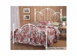 Queen Size Bed - Cherie Metal Bed in Ivory