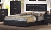 Queen Size Bed - Dylan Queen Size Bed in Black - Coaster - 201401Q