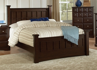 Queen Size Bed - Harbor Queen Size Bed in Rich Cappuccino - Coaster - 201381Q