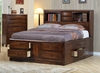 Queen Size Bed - Hillary Queen Size Storage Bed in Warm Brown - Coaster - 200609Q