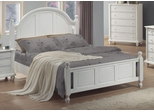 Queen Size Bed - Kayla Queen Size Bed in White - Coaster - 201181Q